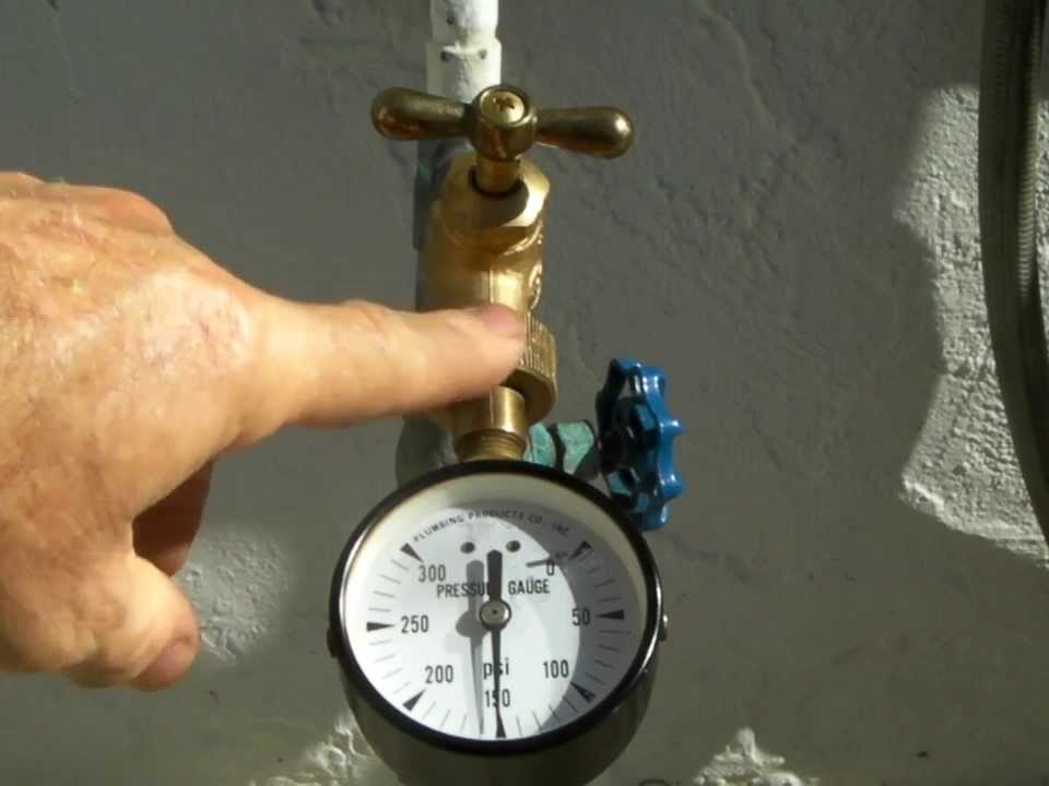 checking home water pressure gauge