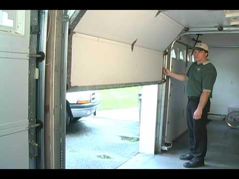 balancing garage door