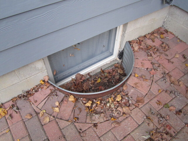 cleaning window wells