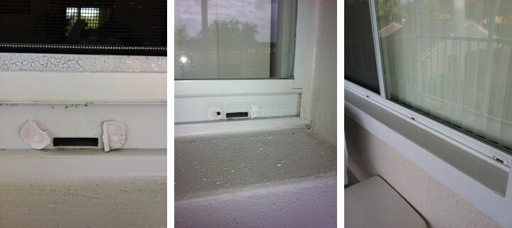 window weep hole cleaning